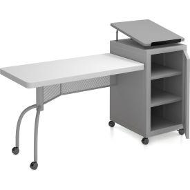 "Oklahoma Sound Edupod Lectern/Teacher's Desk Combo 68""L X 24""W"