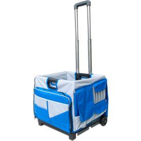 Olympia Tools Pack-N-Roll® Folding Cart 85-506 - 48 Pockets - 50 Lb. Capacity - Blue