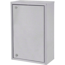 """Omnimed® Stainless Steel Large Single Door Narcotic Cabinet with 4 Shelves, 16""""W x 8""""D x 24""""H"""