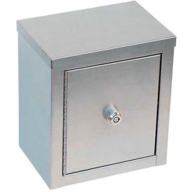 "Omnimed® Stainless Steel Mini Double Door Narcotic Cabinet, 8""W x 5-5/8""D x 9""H"