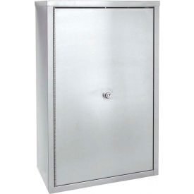 "Omnimed® Stainless Narcotic Cabinet, Double Door, Ambi-Top, 2 Adj. Shelves, 11""W x 4""D x 15""H"