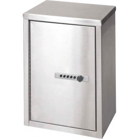 """Omnimed® Stainless Steel Double Door Narcotic Cabinet with Combo Lock, 11""""W x 8""""D x 15""""H"""