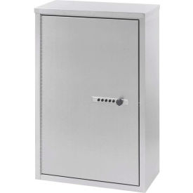 "Omnimed® Stainless Double Door Narcotic Cabinet with Combo Lock & 4 Shelves, 16""W x 8""D x 24""H"