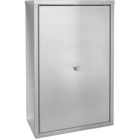 """Omnimed® Stainless Steel Large Double Door Narcotic Cabinet with 4 Shelves, 16""""W x 8""""D x 24""""H"""