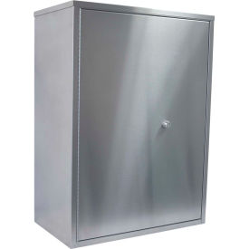 """Omnimed® Stainless Maxi Narcotic Cabinet Double Door, Ambi-Top, 4 Adj. Shelves, 22""""Wx12""""Dx30""""H"""