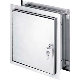 "Omnimed® Stainless Pass-Thru Lockable Cabinet, Single Door, 11-1/2""W x 6""D x 12""H"