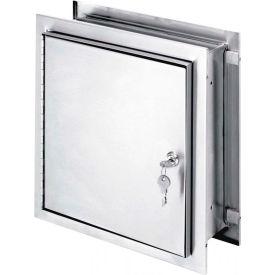 "Omnimed® Stainless Steel Pass-Thru Lockable Cabinet, 12""H x 11-1/2""W x 6""D, Key Lock"