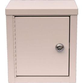 "Omnimed® Economy Mini Narcotic Cabinet, Single Door, Ambi-Top, 8""W x 5-5/8""D x 9""H, Beige"