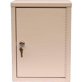 """Omnimed® Economy Double Door Narcotic Cabinet, Ambi-Top, 2 Adj. Shelves,11""""W x 8""""D x 15""""H,Beige"""
