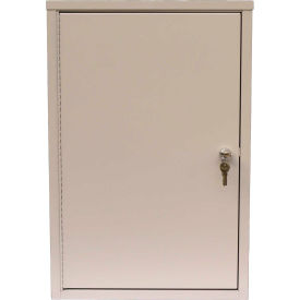 "Omnimed® Economy Double Door Narcotic Cabinet, Ambi-Top, 2 Adj. Shelves,16""W x 8""D x 24""H,Beige"