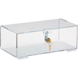 """Omnimed® Single Lock Acrylic Refrigerator Medicine Lock Box, 12""""W x 6""""D x 4-1/4""""H, Clear"""