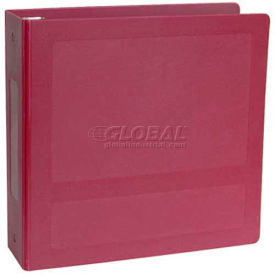 """Omnimed 1-1/2"""" Antimicrobial Binder, 3-Ring, Side Open, Holds 300 Sheets, Burgundy by"""