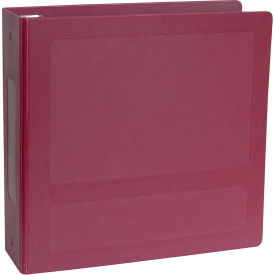 "Omnimed 2-1/2"" Antimicrobial Binder, 3-Ring, Side Open, Holds 450 Sheets, Burgundy by"