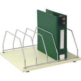 Omnimed® Table Top Storage Rack, 5 Binder Capacity, Beige