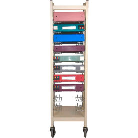 Omnimed Standard Horizontal Open Chart Rack, 10 Binder Capacity, Beige by