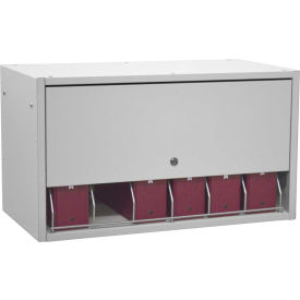 Omnimed® Retractable Locking Panel For Cubbie File Rack, Light Gray
