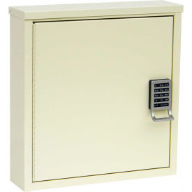 "Omnimed® Patient E-Lock Security Wall  Cabinet, 1 Adj. Shelf, 16""W x 4""D x 16-3/4""H, Light Grey"