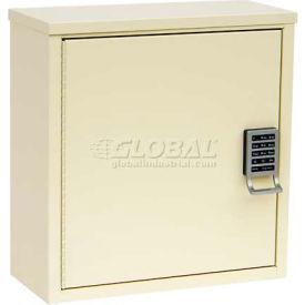 "Omnimed® Patient E-Lock Security Wall  Cabinet, 1 Adj. Shelf, 16""W x 8""D x 16-3/4""H, Light Grey"