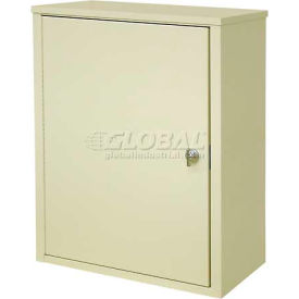 "Omnimed® Wall Storage Cabinet, Ambi-Top, 1 Adjustable Shelf, 16""W x 8""D x 16-3/4""H, Grey"