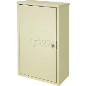 "Omnimed® Wall Storage Cabinet, Ambi-Top, 2 Adjustable Shelves, 16""W x 8""D x 26-3/4""H, Beige"