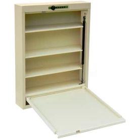 """Omnimed® Medcessity Desk, 4 Shelves, 18""""W x 4""""D x 24-1/2""""H, Beige"""