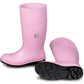 "Onguard Lady Monarch Boot, 14"" Pink Plain Toe, PVC, Size 6"