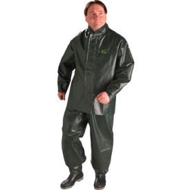 Onguard Duratex Dark Green Jacket W/Detachable Hood, PVC on Polyester, M