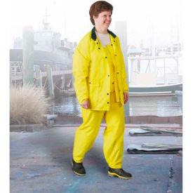 Onguard Polytex Yellow Jacket W/Hood Snaps, Nylon on Polyurethane, 4XL