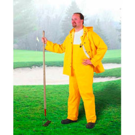 Onguard Sitex Yellow 2 Piece Suit W/Elastic Waist Pants, PVC, XL