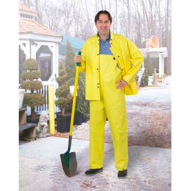 Onguard Cooltex Yellow Jacket W/Attached Hood, PVC, L