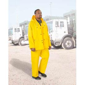 "Onguard Protex 48"" Yellow Coat W/Hood Snaps, Heavy Duty PVC, XL"