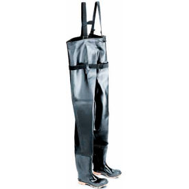 """Onguard Men's, 56.6"""" Chest Wader Black Steel Toe W/Cleated Outsole, PVC, Size 9"""