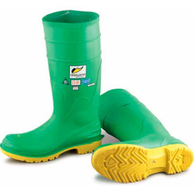 "Onguard Men's Boot, 16"" Hazmax Ez-Fit Green/Yellow, Steel Toe/Mid-sole, PVC, Size 13"