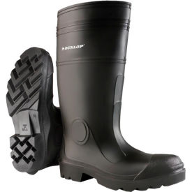 "Onguard Men's Boot,16"" Buffalo Black Plain Toe W/Lug Outsole, PVC, Size 8"