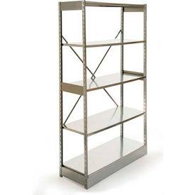 "Excalibur Stockroom Shelving, AM5123672, 36""W X 12""D X 72""H, Galvanized/Galvanized, 5-Shelf-Add On"