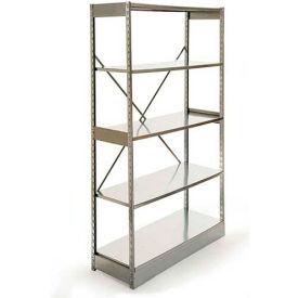 "Excalibur Stockroom Shelving, AM6124884, 48""W X 12""D X 84""H, Galvanized/Galvanized, 6-Shelf-Add On"