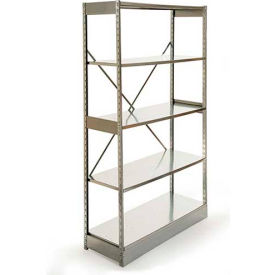 "Excalibur Stockroom Shelving, AM6244884, 48""W X 24""D X 84""H, Galvanized/Galvanized, 6-Shelf-Add On"