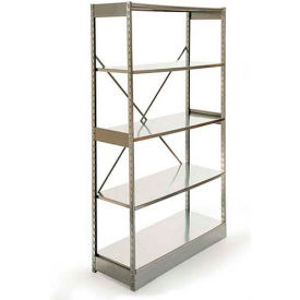 "Excalibur Stockroom Shelving, AM7124896, 48""W X 12""D X 96""H, Galvanized/Galvanized, 7-Shelf-Add On"
