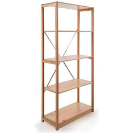 "Excalibur Finished Display Shelving, SB5242472, 24""W X 24""D X 72""H, All Wood, 5-Shelf-Starter"