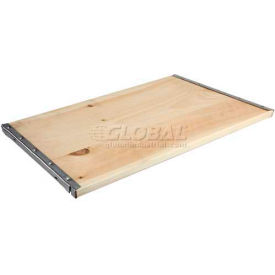"Excalibur Additional D-System Shelf, SWS24X48, 48""W X 24""D, Pine"