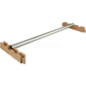 "Excalibur Single Hangrod Assembly, WDSHA24X24SL, 24""W X 24""D, Wood/Plated"