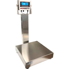 """Optima 915 Series NTEP Stainless Steel Bench Digital Scale With LCD Display 20"""" x 16"""" Platform"""