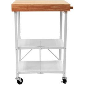 """Origami RBT-04 2 Shelf Kitchen Cart 25-1/4""""L x 19-3/4""""W x 36-1/4""""H White by"""