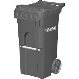 Otto Mobile Trash Container, 35 Gallon Gray - 3955050F-BS8