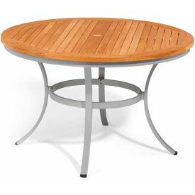 """Oxford Garden® Travira 48"""" Round Dining Table, Teak"""