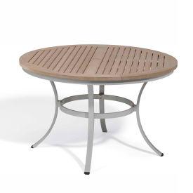 "Oxford Garden® Travira 48"" Round Dining Table, Tekwood Vintage"