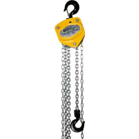 OZ Lifting Manual Chain Hoist With Std. Overload Protection 1 Ton Cap. 20' Lift
