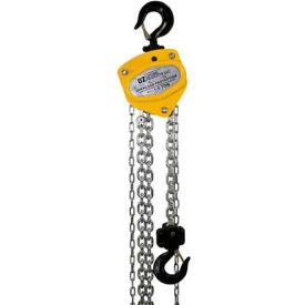 OZ Lifting Manual Chain Hoist w/Std. Overload Protection 1-1/2 Ton Cap. 20' Lift