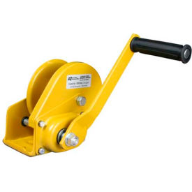 OZ Lifting OZ1000BW Carbon Steel Hand Winch with Brake 1000 Lb. Capacity