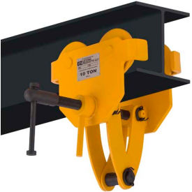OZ Lifting OZ10BTC Beam Trolley with Clamp 10 Ton Capacity